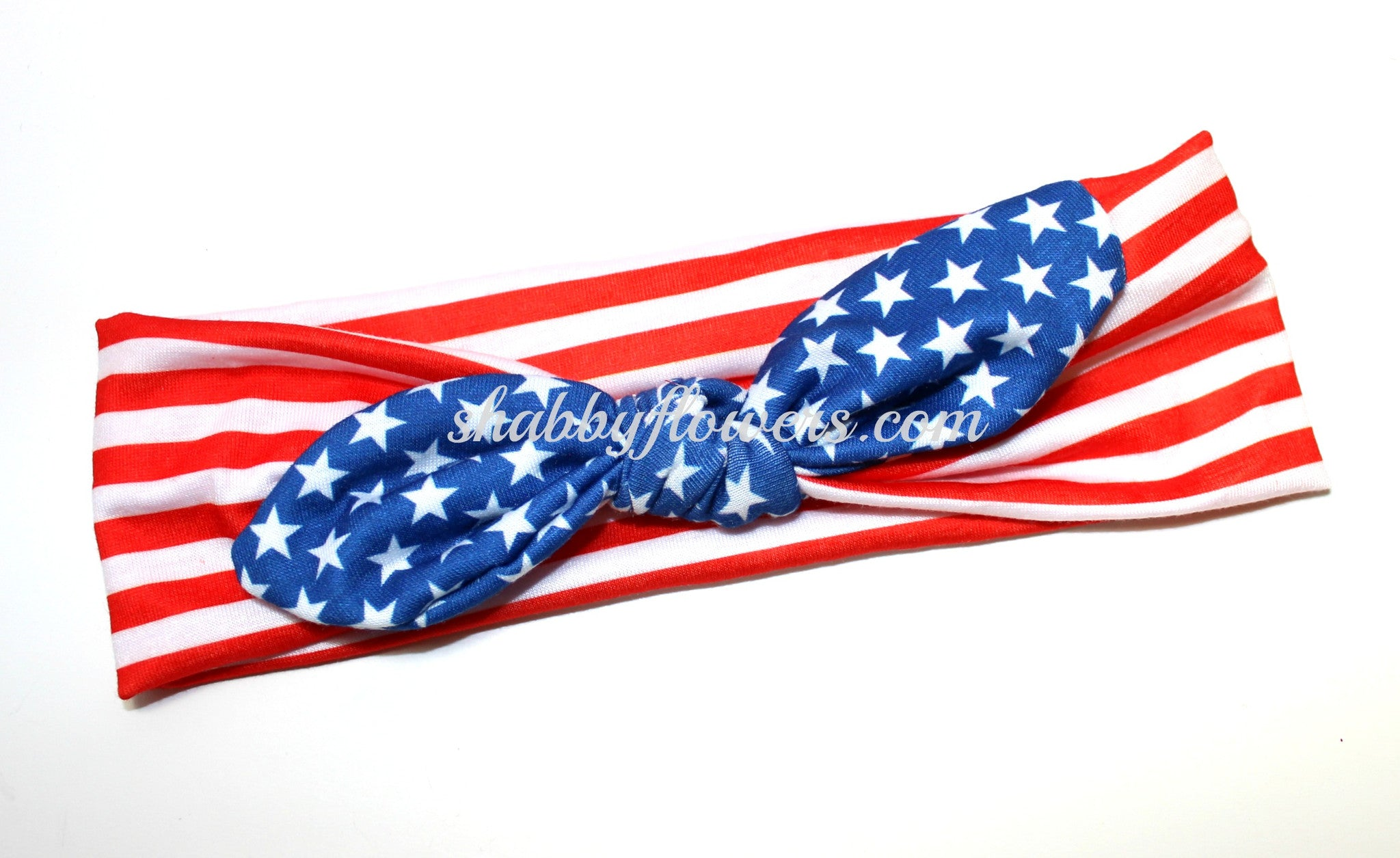 Knot Headband- Flag - Regular - shabbyflowers.com