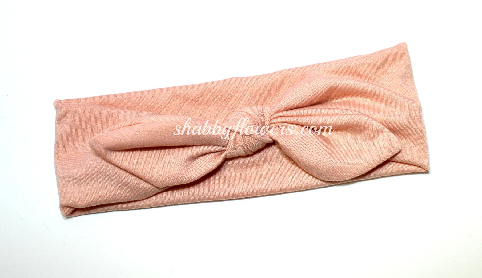 Knot Headband in Pink Blush - Regular - shabbyflowers.com