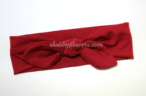 Knot Headband- Cranberry - Small