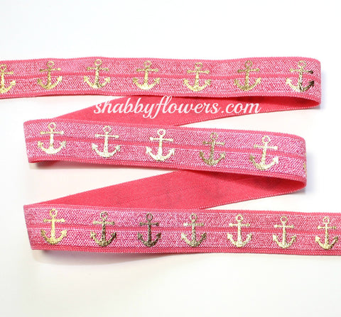 Elastic - Gold Foil Anchors on Watermelon