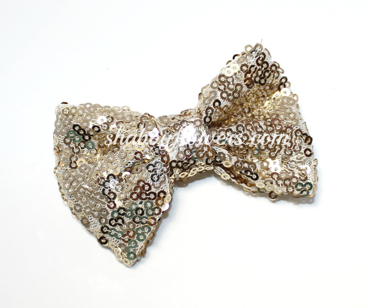 Medium Sequin Bow - Champagne - shabbyflowers.com