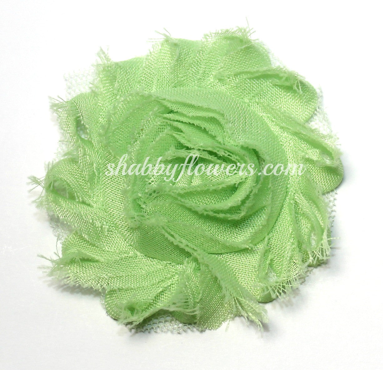 Shabby Chiffon Flower - Honeydew - shabbyflowers.com