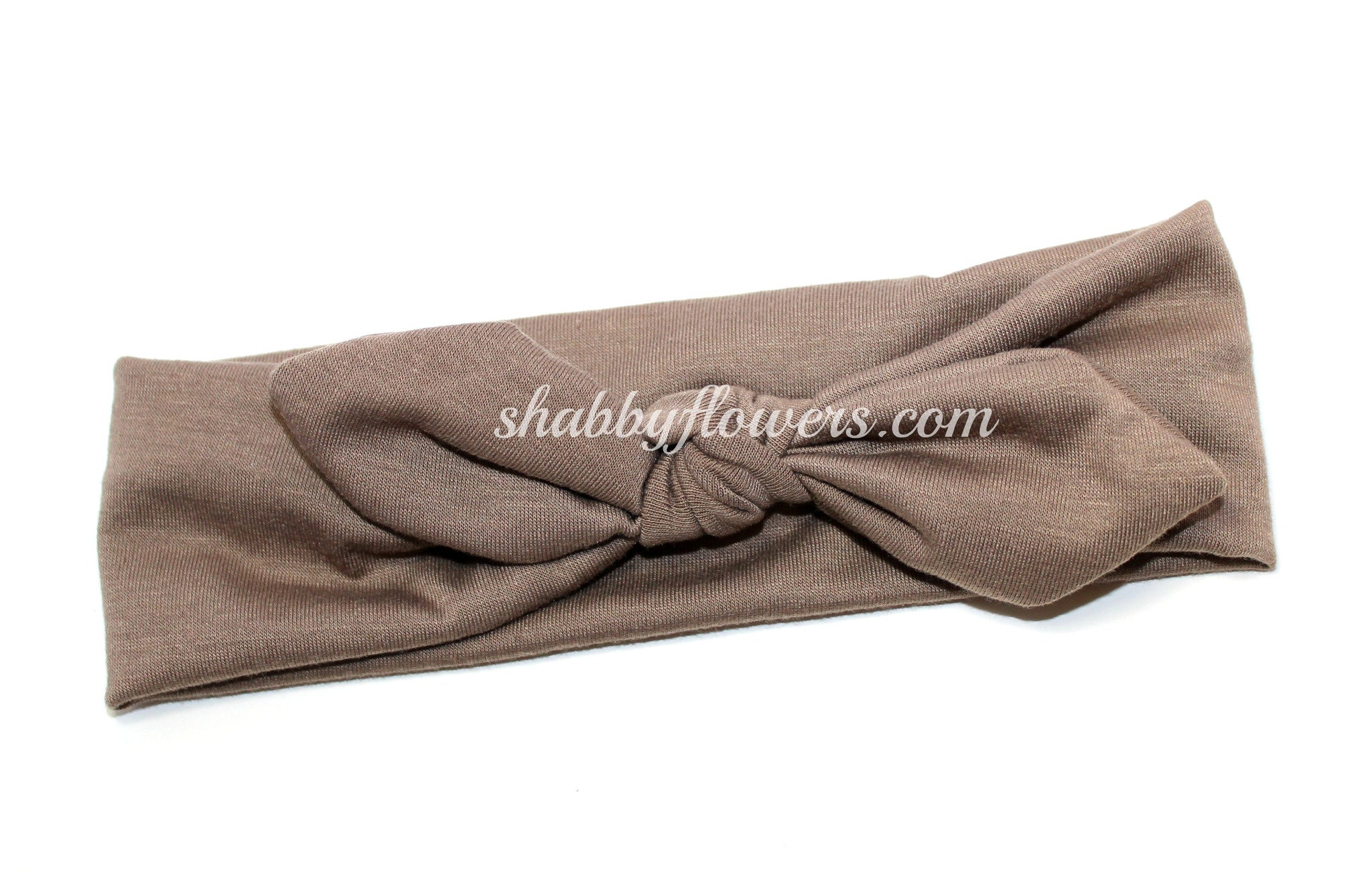 Knot Headband in Taupe - shabbyflowers.com