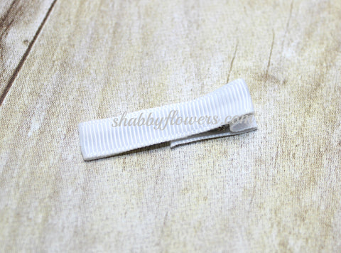 Lined Clip in White