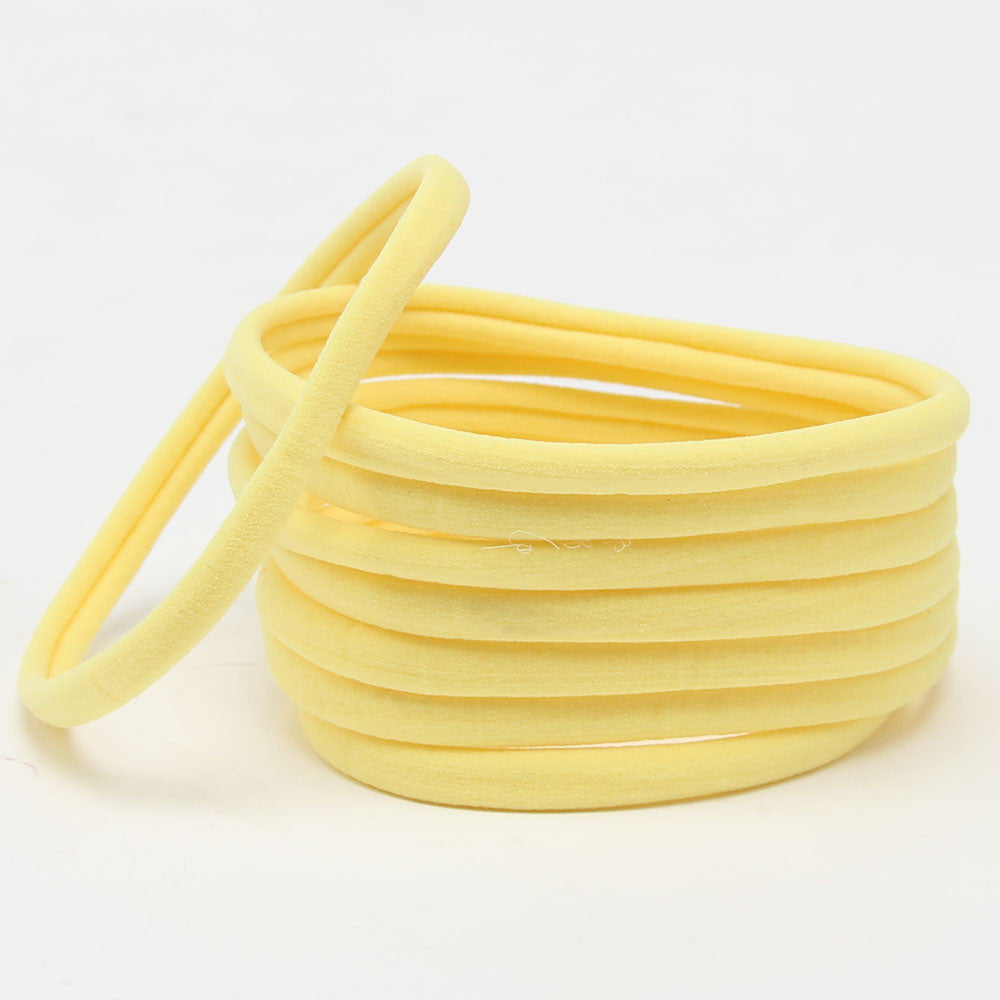 Nylon Headband- Yellow - shabbyflowers.com