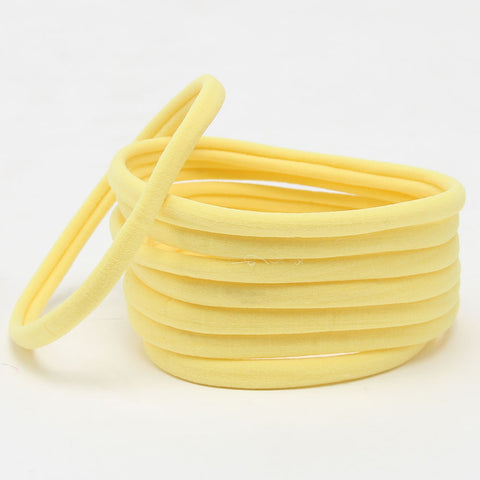 Nylon Headband- Yellow