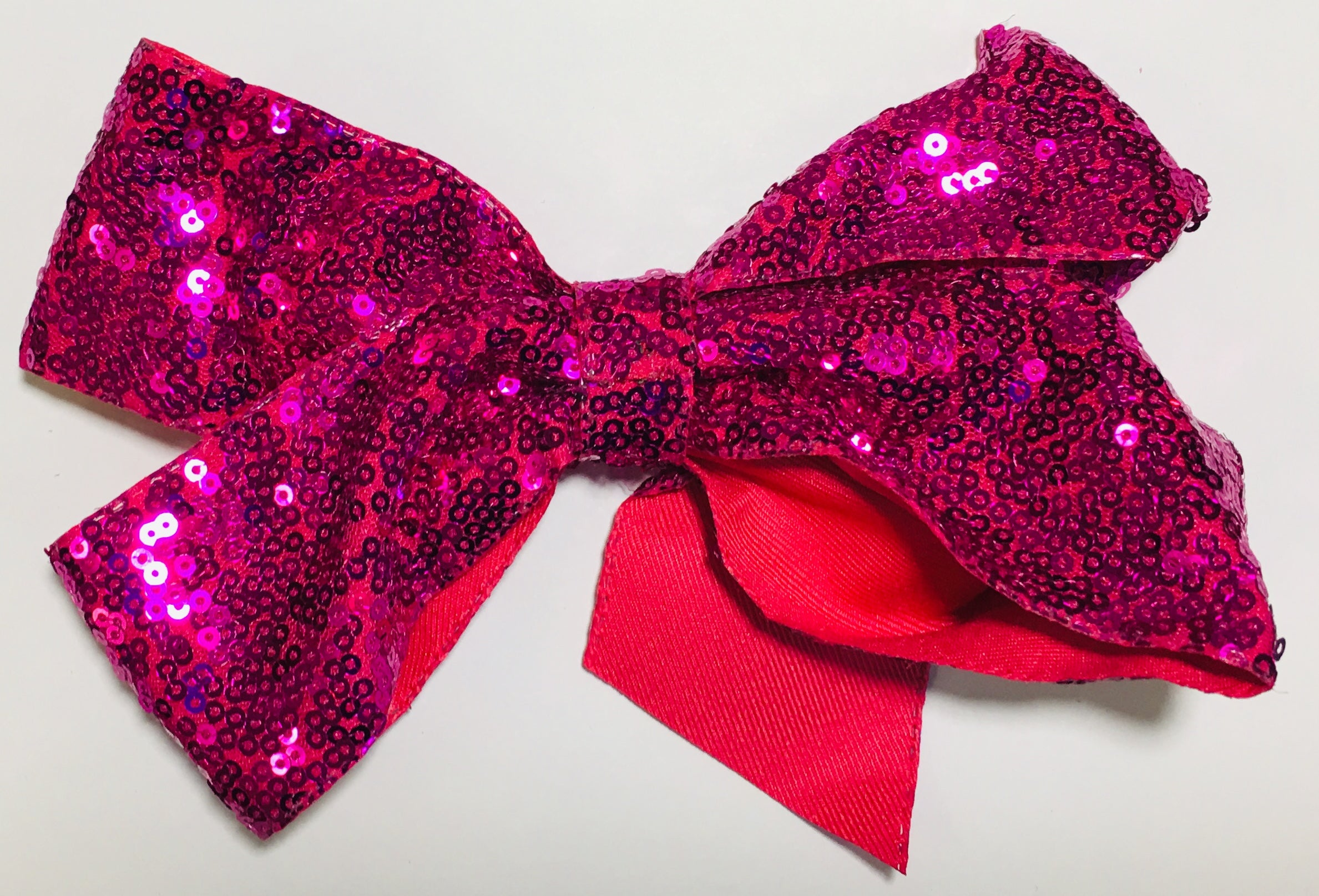 Sequin Hair Bow - Hot Pink - shabbyflowers.com
