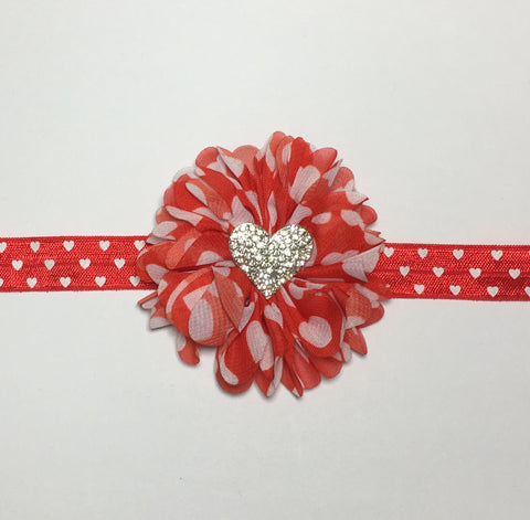Red with White Hearts Headband Kit