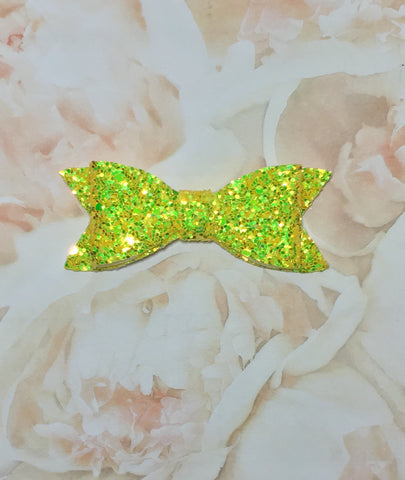 Glitter Bow - Canary Yellow