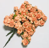 "Paper Flowers - 5/8"" Peach - shabbyflowers.com"