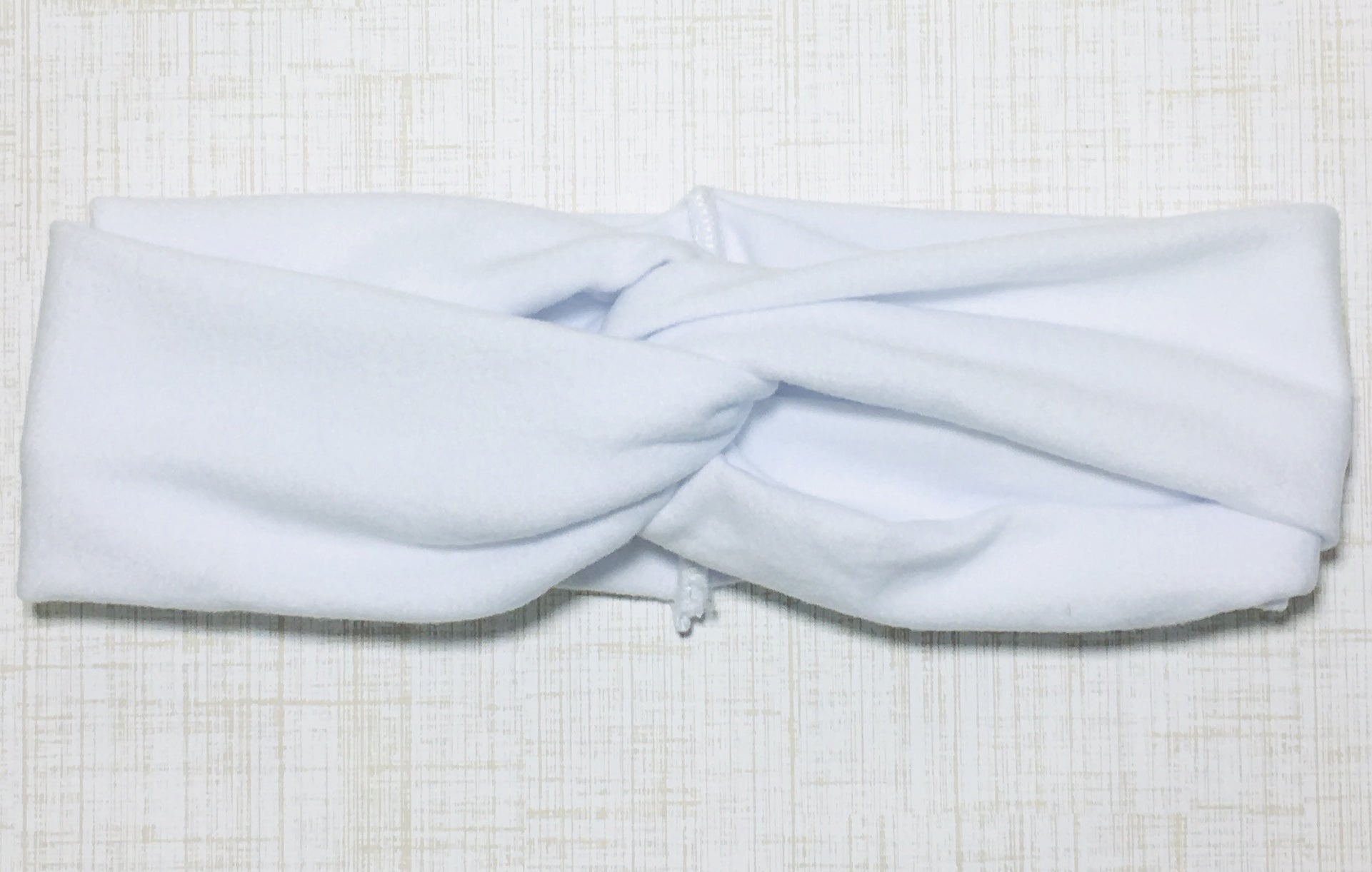 Jersey Twist Headband in White - shabbyflowers.com