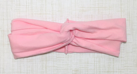 Jersey Twist Headband in Light Pink