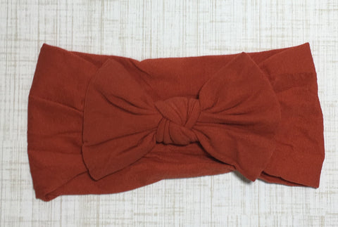 Nylon Ballet Bow Headband in Pumpkin