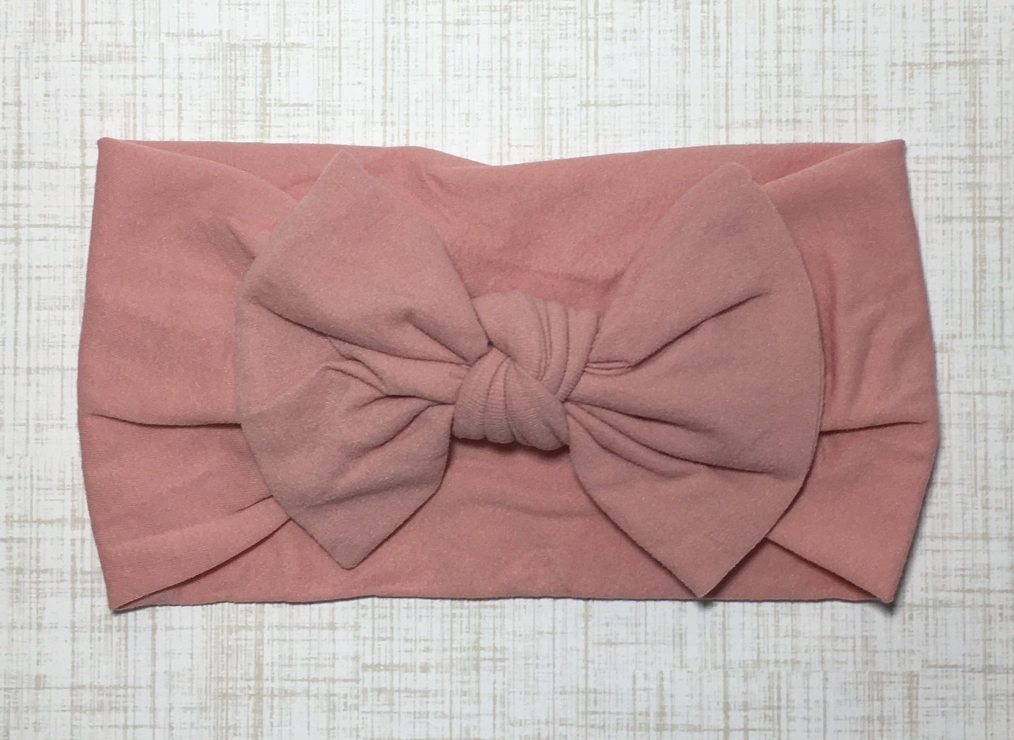 Nylon Ballet Bow Headband in Dusty Pink - shabbyflowers.com