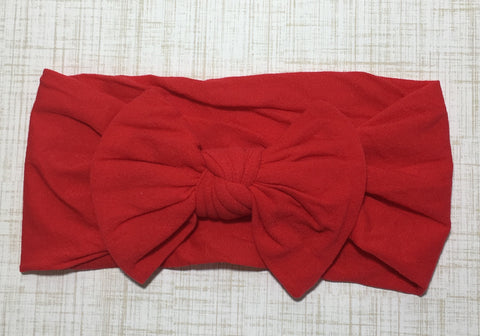 Nylon Ballet Bow Headband in Red