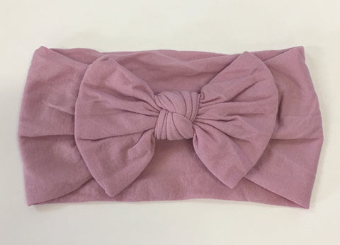 Nylon Ballet Bow Headband in Lilac