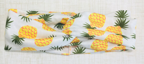 Jersey Twist Headband in Pineapples