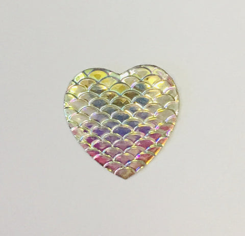 Heart Shaped Mermaid Scales - Choose Your Color