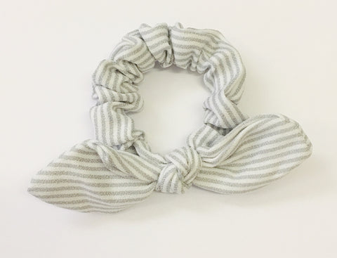 Striped Knot Scrunchies - Choose Your Color