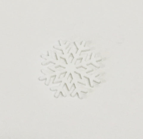 Snowflake resin - White
