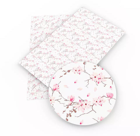 Cherry Blossom Faux Leather Sheet