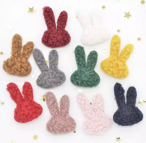 "1"" Bunny Plush Applique - Choose Your Color"