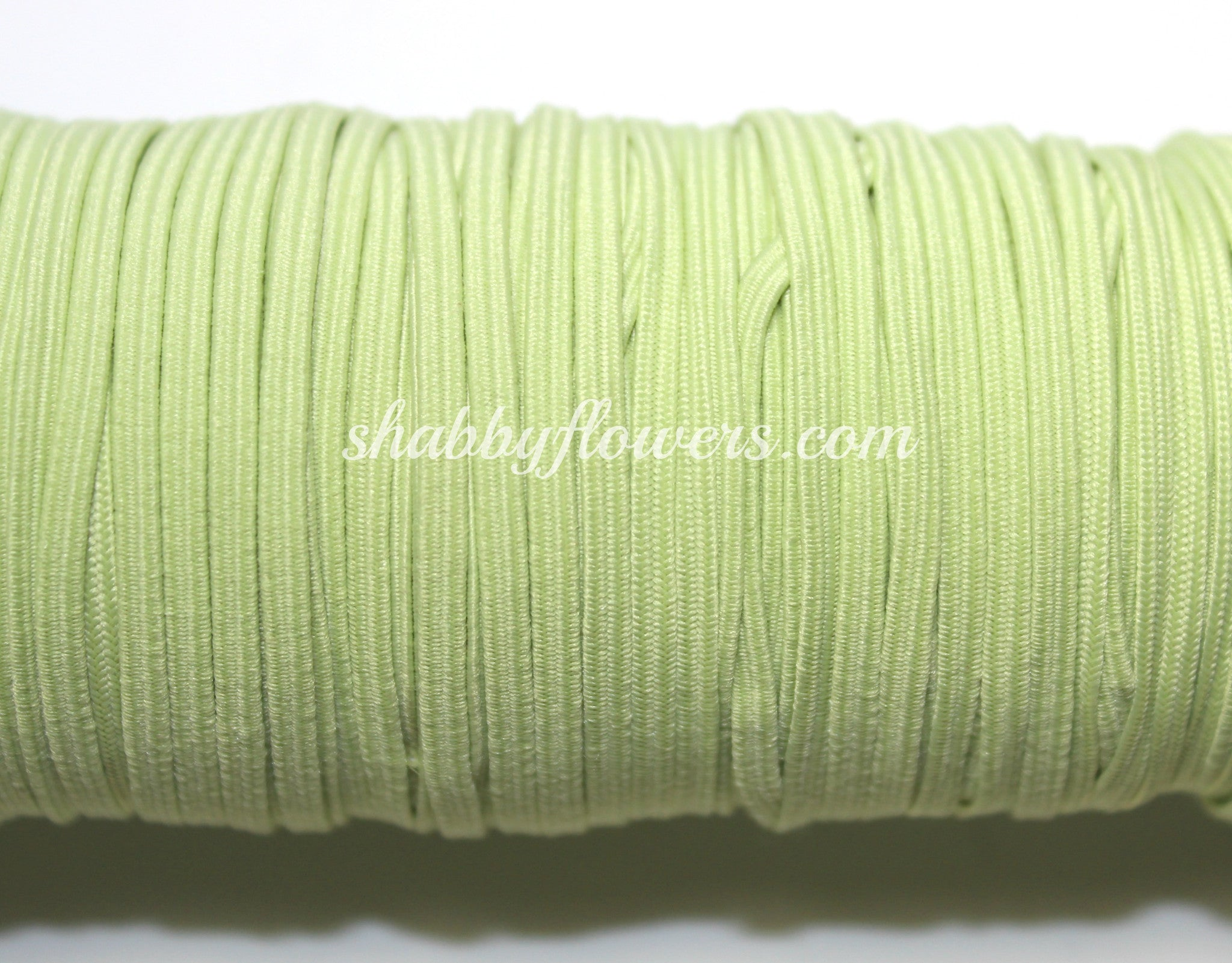Skinny Elastic - Key Lime - shabbyflowers.com