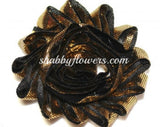 Shabby Flower - Metallic Gold with Black - shabbyflowers.com