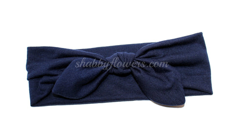 Knot Headband in Navy- Small