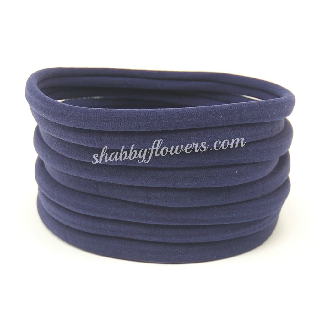 Nylon Headband- Navy - shabbyflowers.com