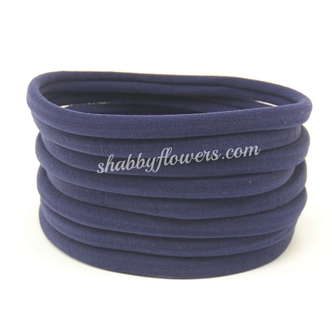 Nylon Headband- Navy