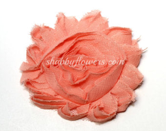 Shabby Flower - Peach - shabbyflowers.com