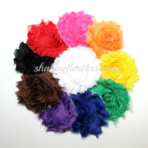 Shabby Flower Multipack - Rainbow (10 Colors / 20 Flowers)