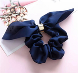 Chiffon Scrunchies with Golden Ring - Choose Your Color - shabbyflowers.com
