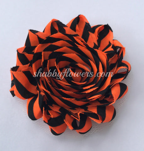 Shabby Flower - Orange and Black