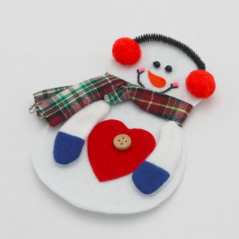 Snowman Appliqué - Heart - shabbyflowers.com