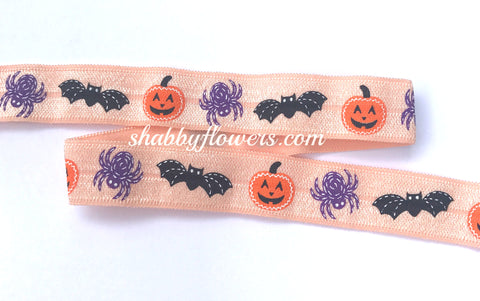 Elastic - Halloween Spider, Pumpkin and Bat