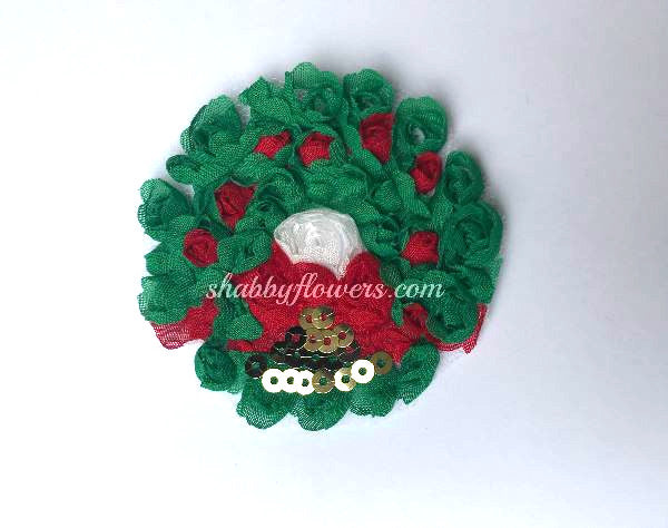 Shabby Christmas Wreath - shabbyflowers.com