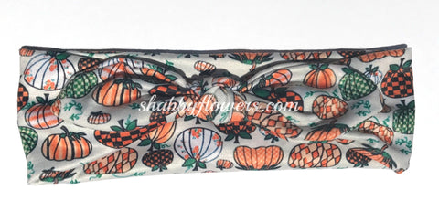 Knot Headband - Fall Pumpkin - Size Regular