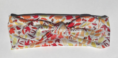 Knot Headband - Fall Leaves - Size Small