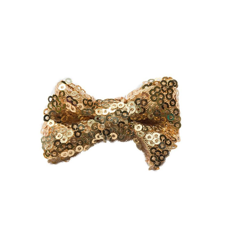 Small sequin bow - choose your color - shabbyflowers.com