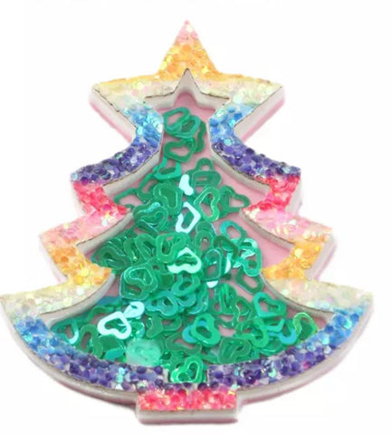 Christmas Tree Confetti Resin