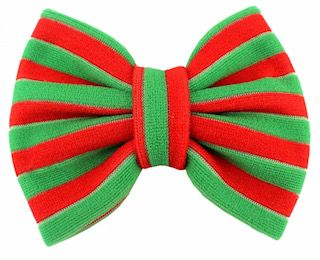 "5"" Christmas Fabric Bow - Choose Your Color"