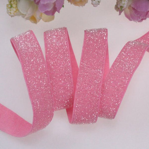 Glitter Elastic - Light Pink - 5/8""