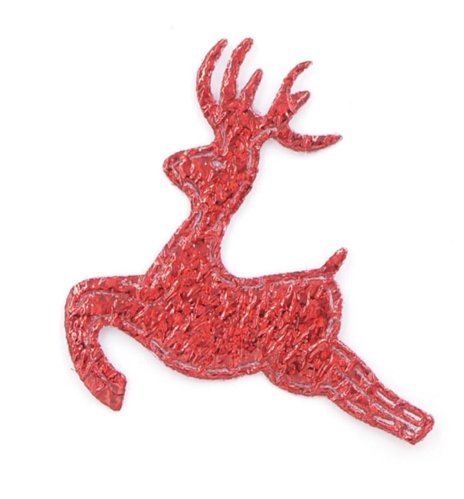 Reindeer Applique - Red