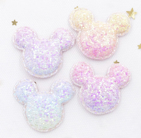 Chunky Glitter Mouse Applique