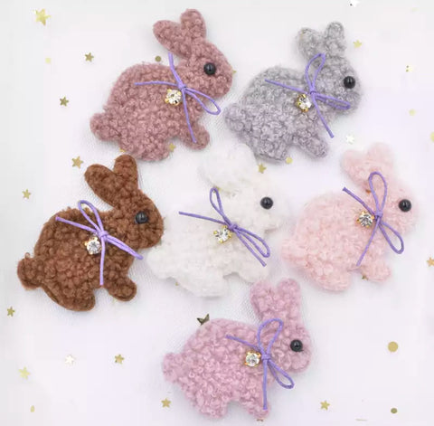 Small Bunny Plush Applique - Choose Your Color