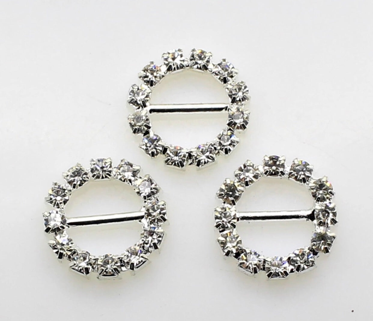 Embellishment - Rhinestone Buckle - Circle - shabbyflowers.com