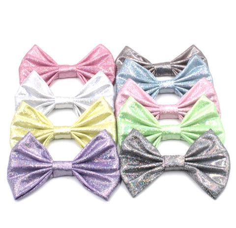 Large Glitter Soft Metallic Bow - Choose your color
