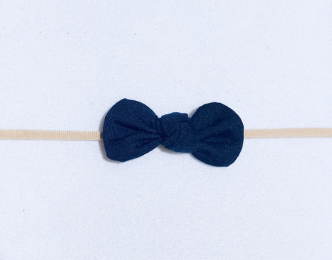 Nylon Knot Headband - Navy